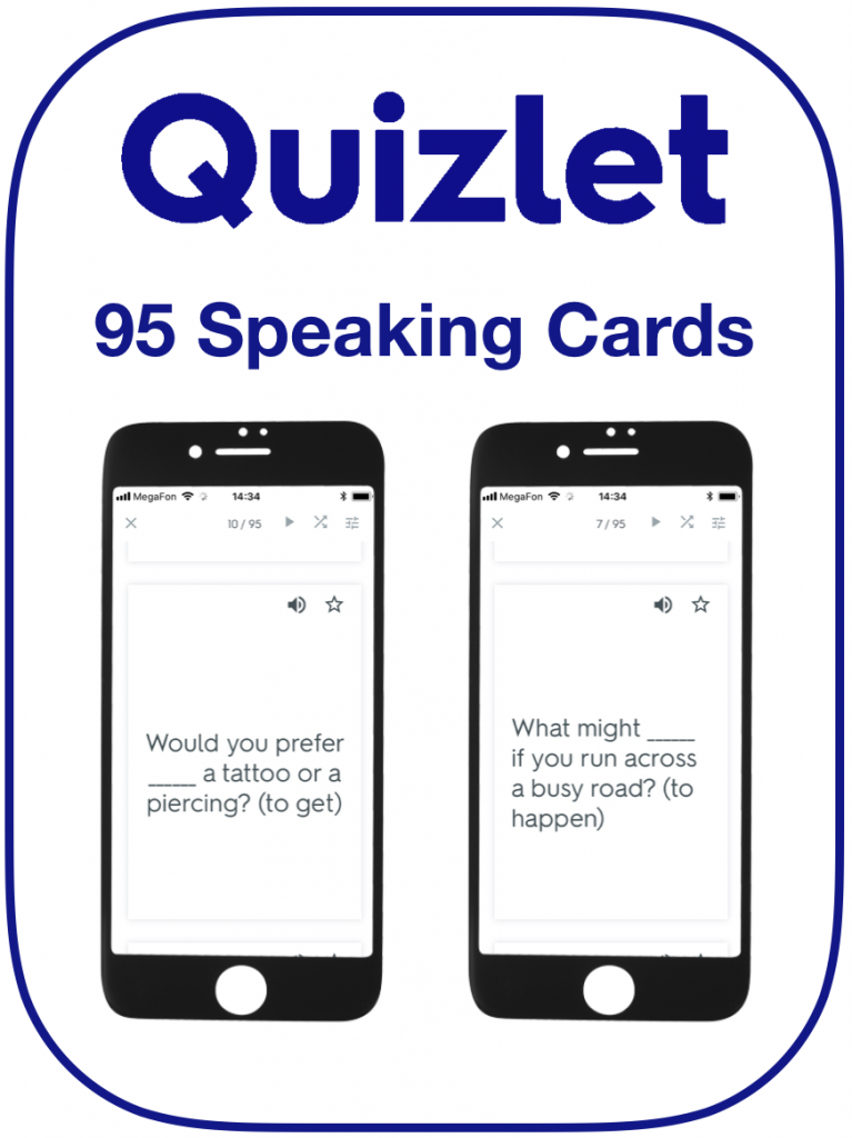 Speaking cards EFL gerunds infinitives