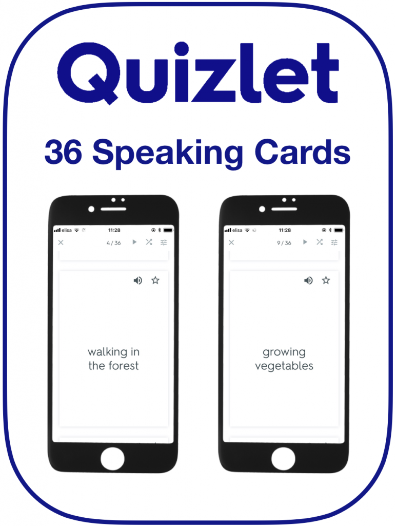 EFL Speaking Cards Likes Dislikes