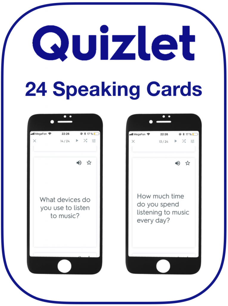 EFL Speaking Cards Music