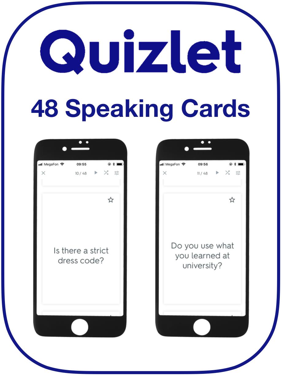 EFL Speaking Cards Work Jobs