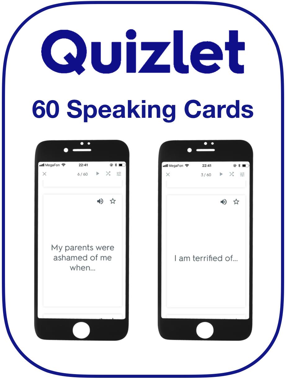 EFL Speaking Card Adjective Preposition
